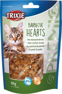 Trixie PREMIO Barbecue Hearts 50g DLA KOTA